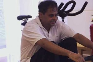 Pradeep working towards his personal fitness goals